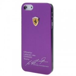 Ferrari Metal Cover  til iPhone 5/5S - Lilla