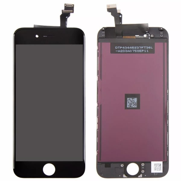 AAA quality Display Screen assembly til iPhone 6 (Sort)