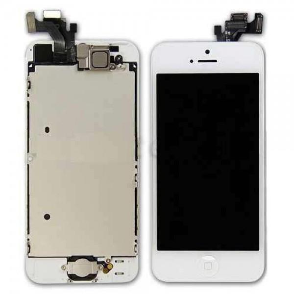 Original(OEM)iPhone 5 Touch Glas & LCD Skærm (8 i 1) - Hvid