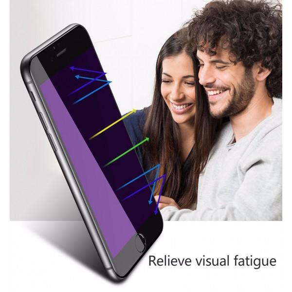 iPhone 6 / 6S CAFELE Beskyttelsesglas Full Coverage UV med Carbon Fiber Rim Sort