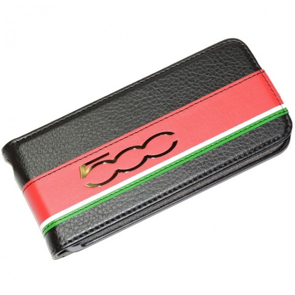 iPhone SE / 5S / 5 FIAT 500 Original Flip Læder Etui - Sort