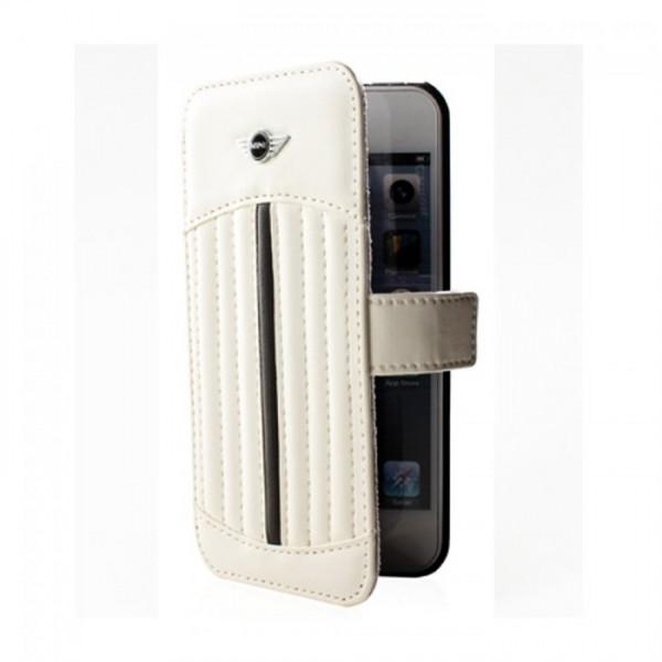 iPhone SE / 5S / 5 MINI COOPER Original Flip Læder Etui - Hvid