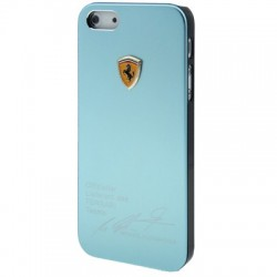 Ferrari Metal Cover  til iPhone 5/5S - Lyseblå