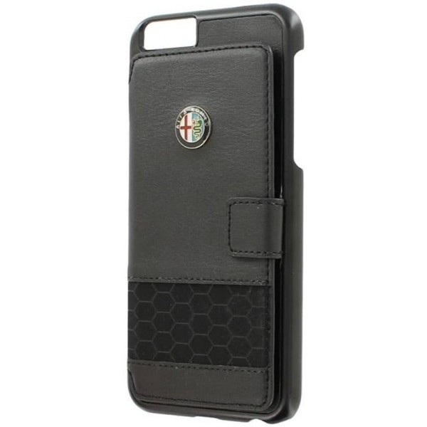 iPhone SE/5S ALFA ROMEO Portemonnee Læder Cover - Sort