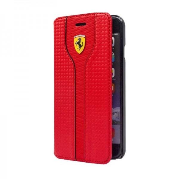 Ferrari Racing Carbon Læder Etui til Samsung Galaxy S6 - Hvid