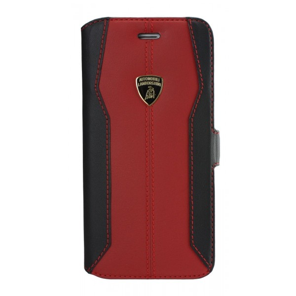 Lamborghini Huracan-D1 Genuine Læder Etui m Kortholder - Rød