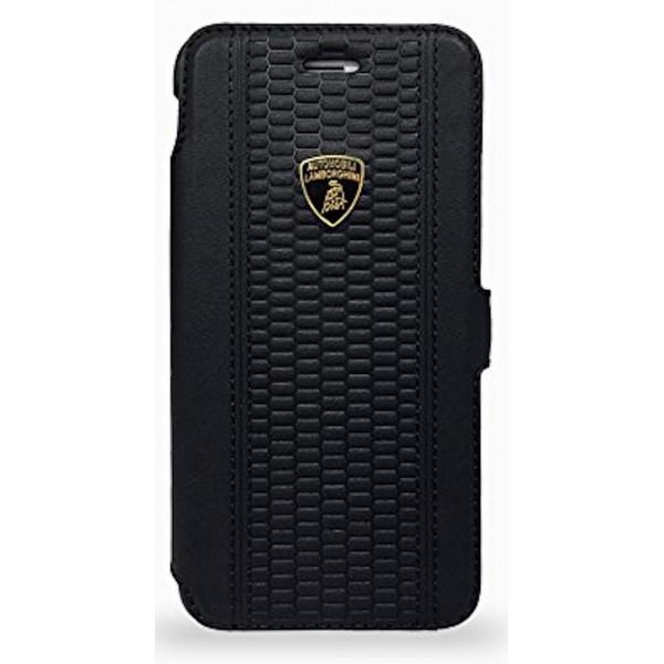 Lamborghini Huracan-D2 Genuine Læder Etui m Kortholder til iPhone 6 / 6S - Sort