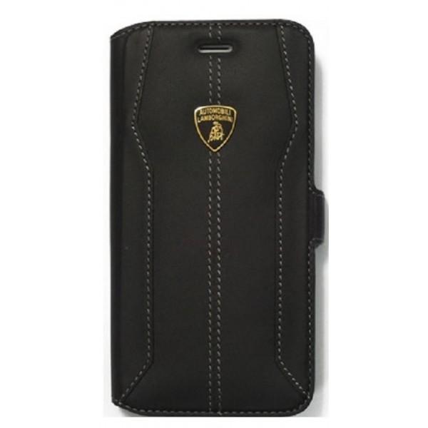 Lamborghini Huracan-D1 Genuine Læder Etui m Kortholder til iPhone 6 / 6S - Sort