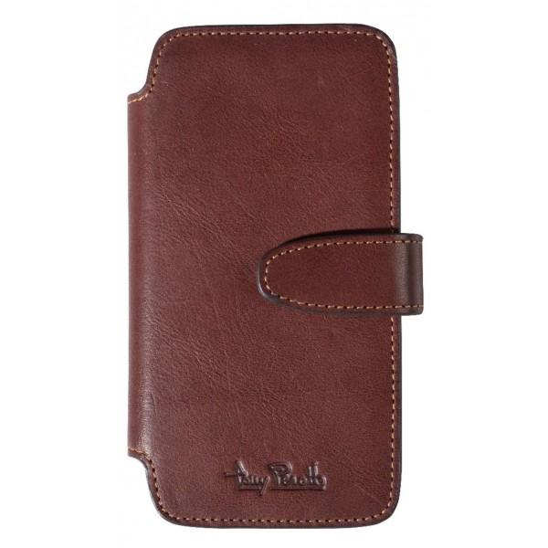 TONY PEROTTI Læder Wallet Etui til iPhone 6 / 6S / 7 / 8 - Brun