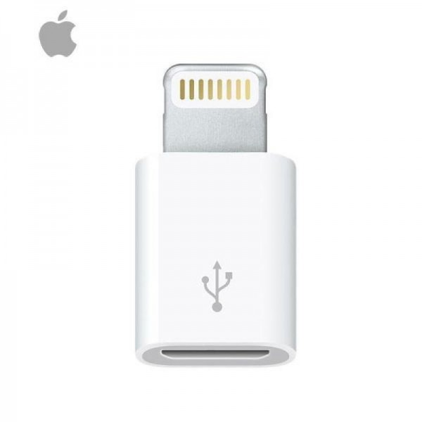 Apple iPhone iPad iPod Micro USB Female til Lightning 8PIN Male Hvid