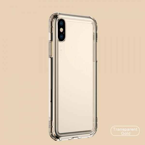 iPhone XS BASEUS Safety Airbags TPU - Gennemsigtig guld