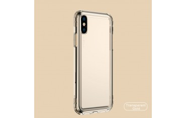 iPhone X / XS BASEUS Safety Airbags Klar TPU Cover - Guld