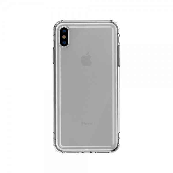 iPhone XS BASEUS Safety Airbags TPU Cover- Gennemsigtig Sort