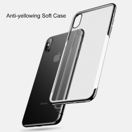 iPhone XS BASEUS Shining Series Plated TPU Cover - Sort