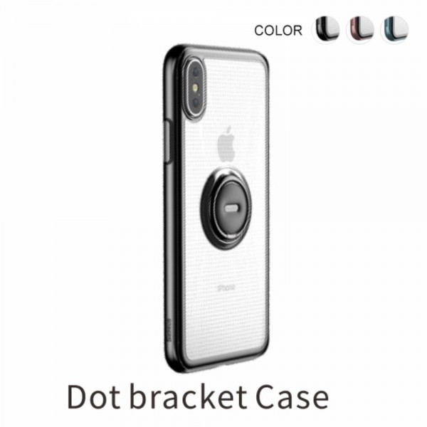iPhone XS BASEUS TPU Cover med Kickstand - Sort