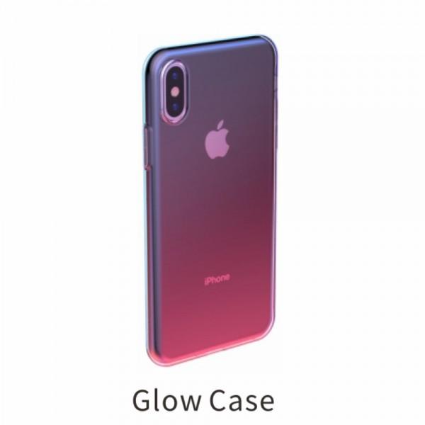 iPhone XS BASEUS Farve TPU Cover - Lyserød