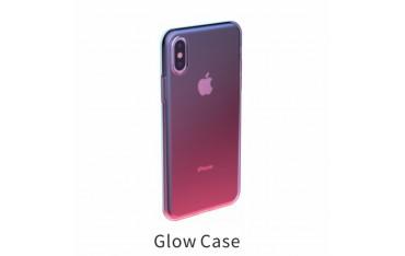 iPhone X / XS BASEUS Regnbue TPU Cover - Lyserød