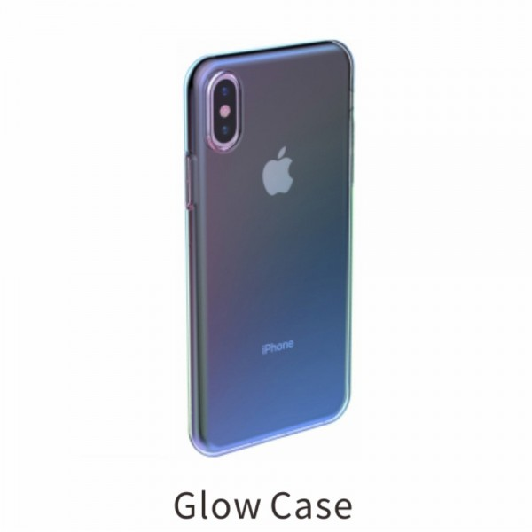 iPhone XS BASEUS Farve TPU Cover - Blå