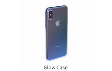 iPhone X / XS BASEUS Regnbue TPU Cover - Blå