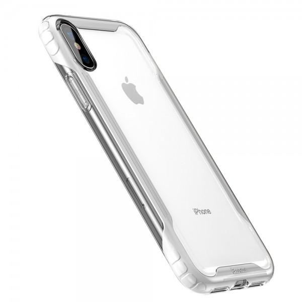 iPhone XS BASEUS Hybrid TPU Cover - Hvid