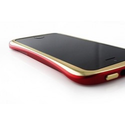 DRACO ELEGANCE ALUMINUM BUMPER til iPhone 5/5S - GULD/RØD