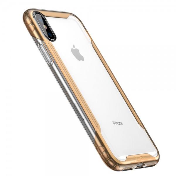 iPhone XS BASEUS Hybrid TPU Cover -Guld