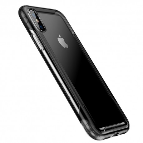 iPhone XS BASEUS Hybrid TPU Cover - Sort
