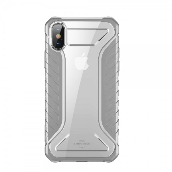 iPhone XS  BASEUS Michelin Series Silicone Cover - Grå