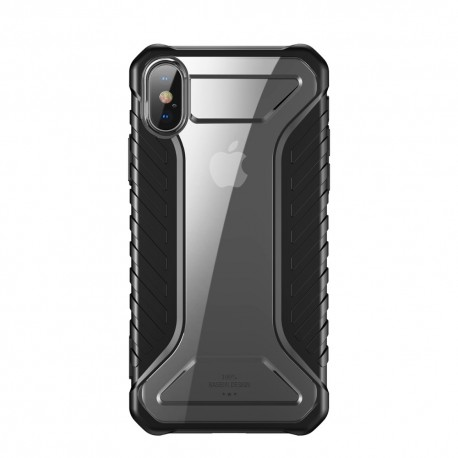 iPhone XS  BASEUS Michelin Series Silicone Cover - Sort