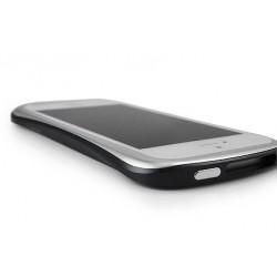 DRACO ELEGANCE ALUMINUM BUMPER til iPhone 5/5S - SØLV/SORT