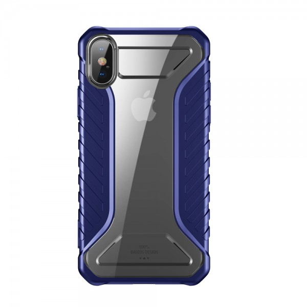 iPhone XS  BASEUS Michelin Series Silicone Cover - Blå