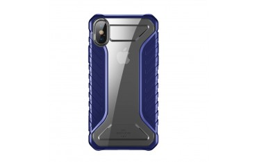 iPhone XS / X BASEUS Michelin Series Silikone Cover - Blå