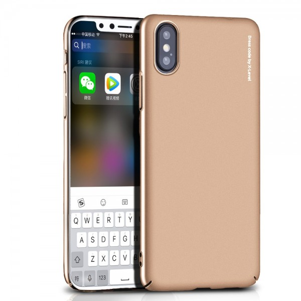 iPhone XS Max X-LEVEL Knight Series TPU Cover - Guld