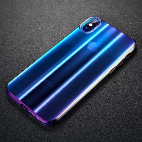 iPhone XS MAX BASEUS Aurora Series TPU Cover - Blå