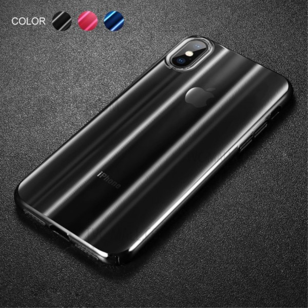 iPhone XS MAX BASEUS Aurora Series TPU Cover - Sort