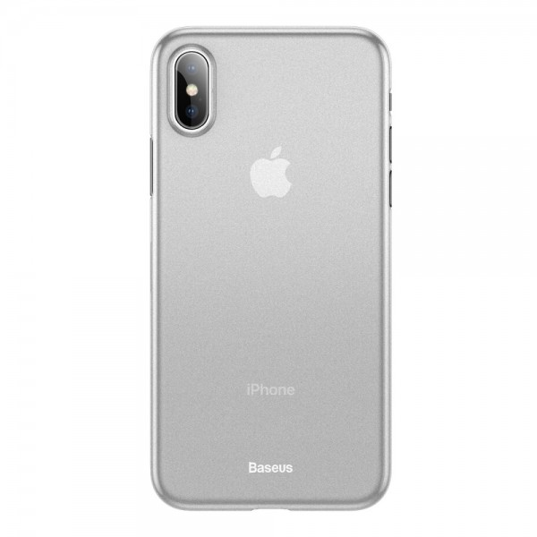 iPhone XS MAX BASEUS Wing Series Ultra Thin Matte TPU Cover - Hvid