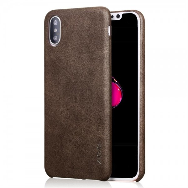 iPhone XS Max X-LEVEL Vintage Læder Cover - Brun