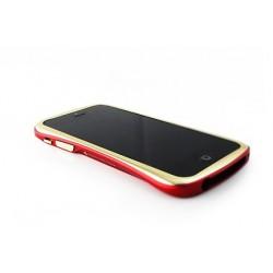 DRACO ELEGANCE ALUMINUM BUMPER til iPhone 5/5S - SØLV/RØD