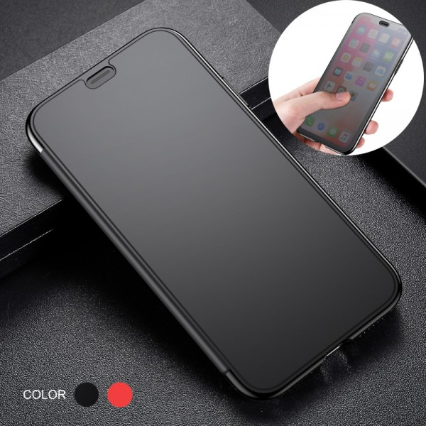 iPhone XS MAX BASEUS TPU Cover Glas Surface - Sort