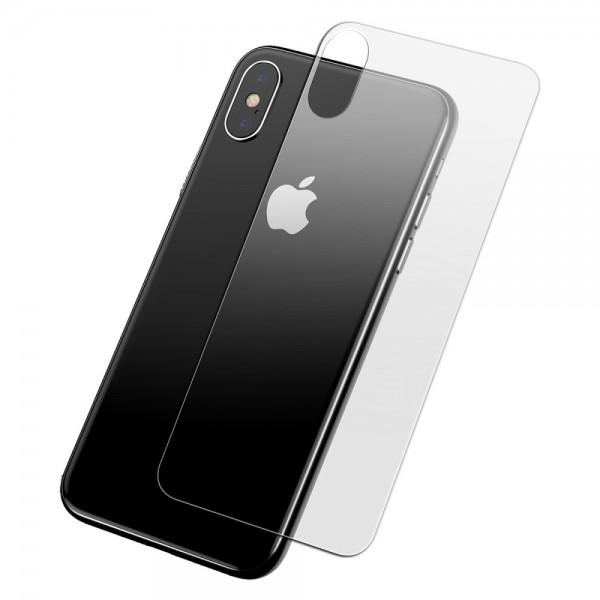iPhone XS MAX BASEUS 0.3mm Back Cover Beskyttelsesglas - Gennemsigtig