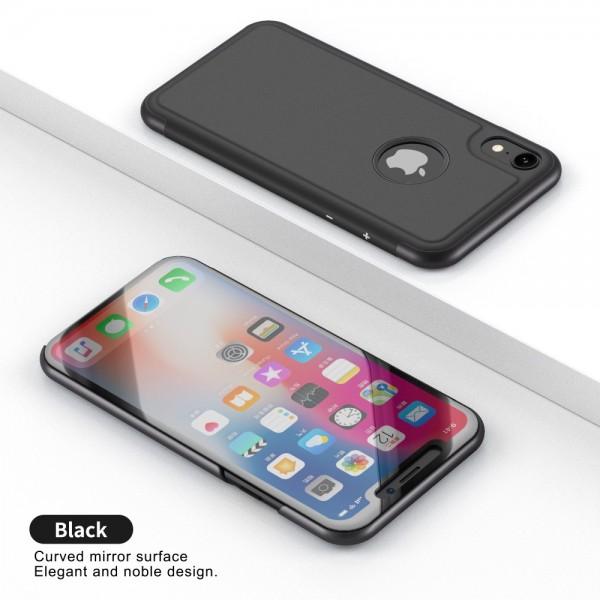 iPhone XR Læder Cover med vindue - Sort