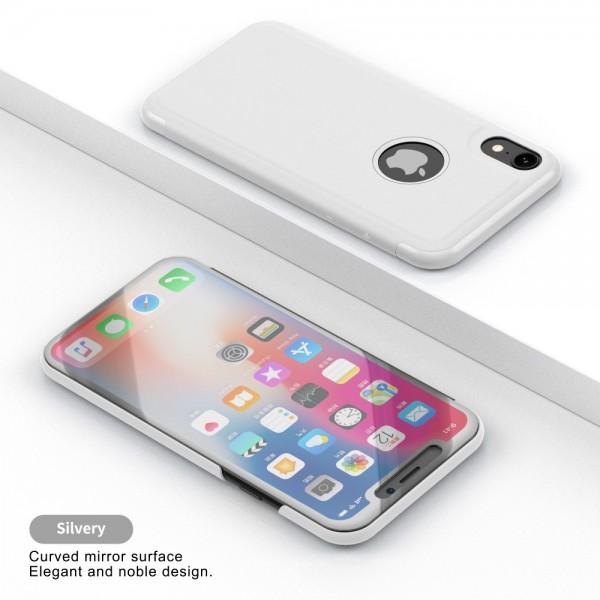 iPhone XR Læder Cover med vindue - Hvid