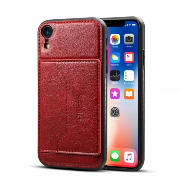 iPhone XR Crazy Horse Læder Cover - Rød