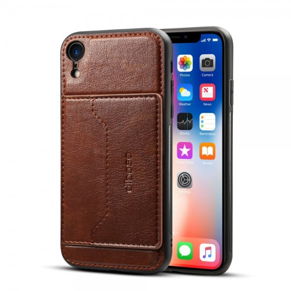 iPhone XR Crazy Horse Læder Cover - Brun