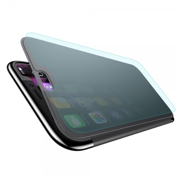 iPhone XR BASEUS TPU Cover med Glas Surface - Sort