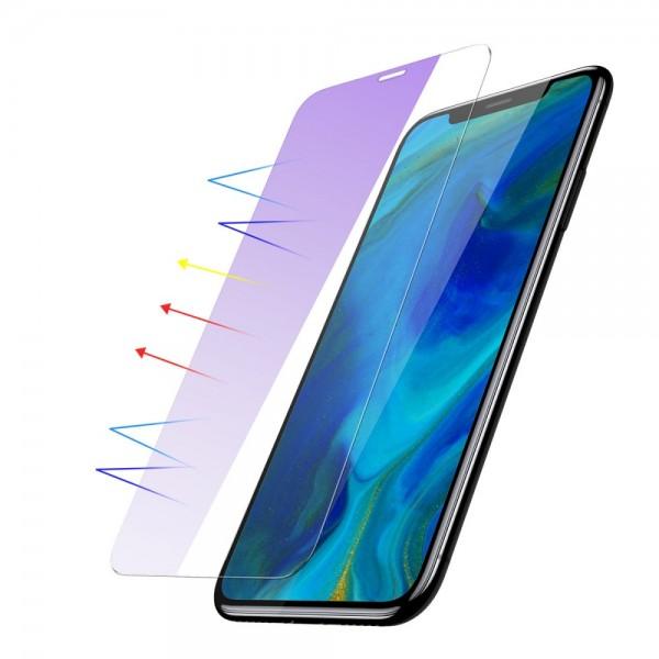 iPhone XR BASEUS 0.15mm Anti-Bluelight Beskyttelsesglas - Gennemsigtig