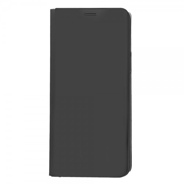 Samsung Galaxy S9 Læder Cover Etui med Glas Surface - Sort