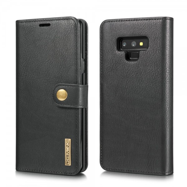 Samsung Galaxy Note9 Magnetisk Læder Cover Etui - Sort