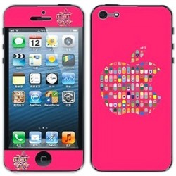 Red Apple - Color Shining & Krystal Beskyttende Skin Sticker til iPhone 5