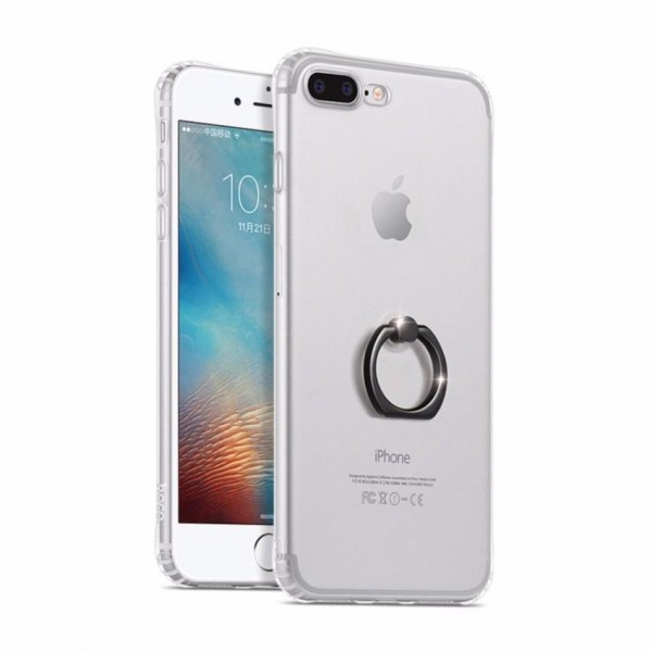 iPhone 7 / 8 HOCO TPU Cover Med Ring Holder - Transparent